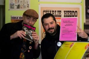 Avec le boss de L'Homme Sandwich, qui propose la formule Distorsion X ! – avec Rurik Sallé et L'hommeSandwich Angoulême.