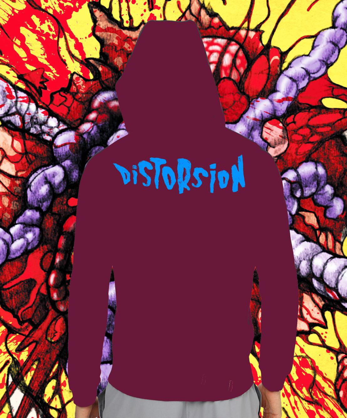 hoodie mauve fond