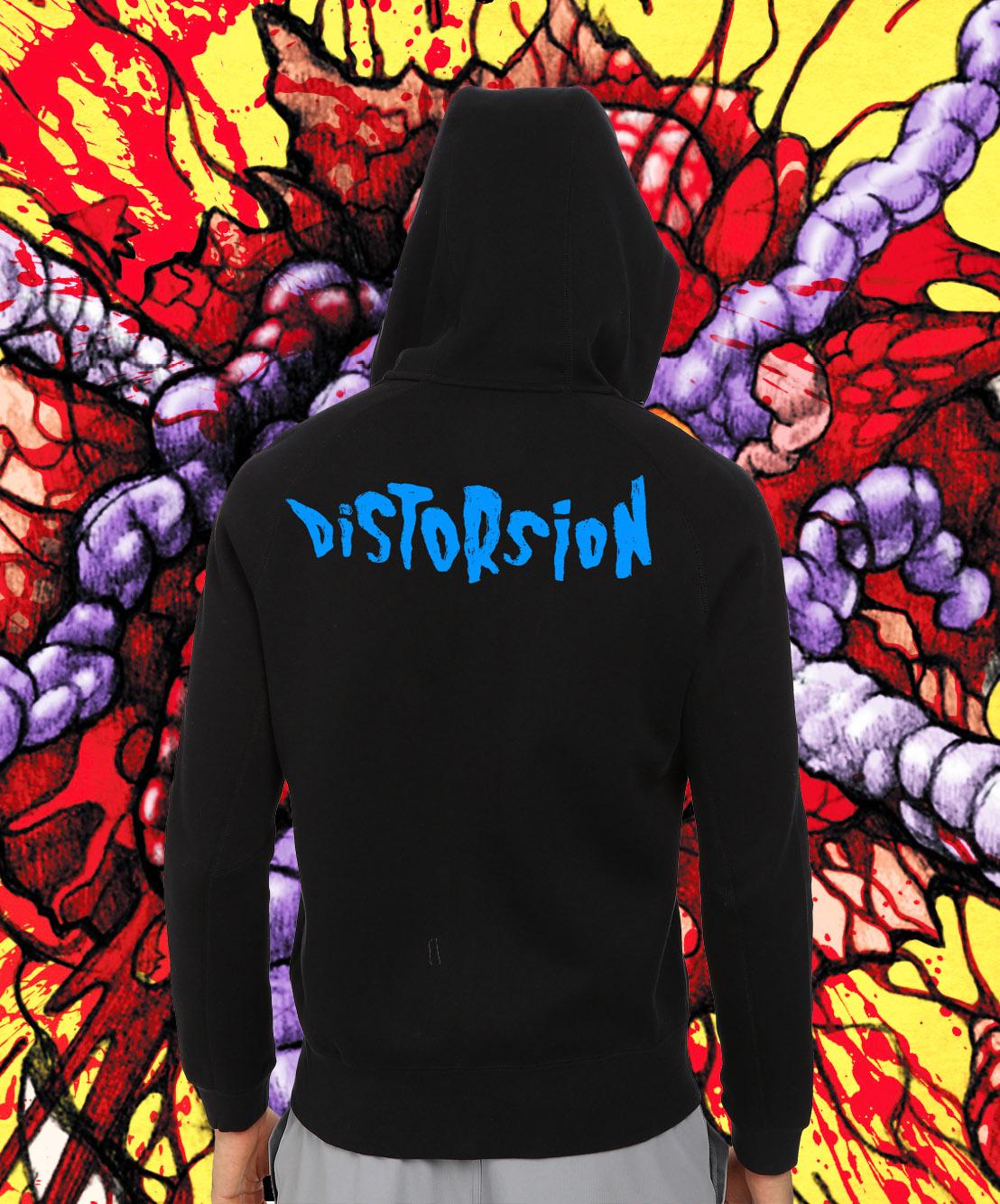 hoodie noir fond