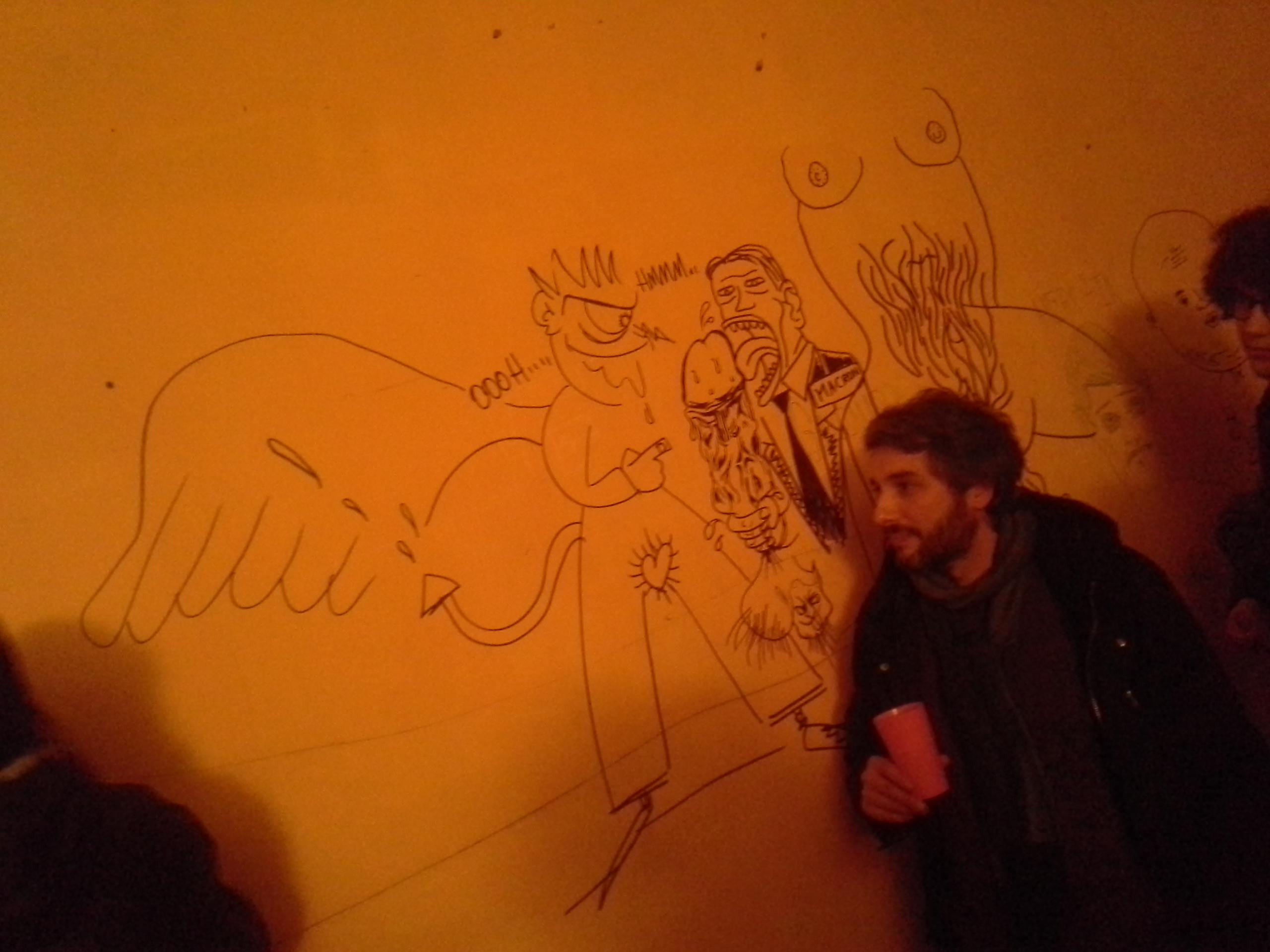 Laurent et une fresque signée Rurik, Laurent et Tomahawk