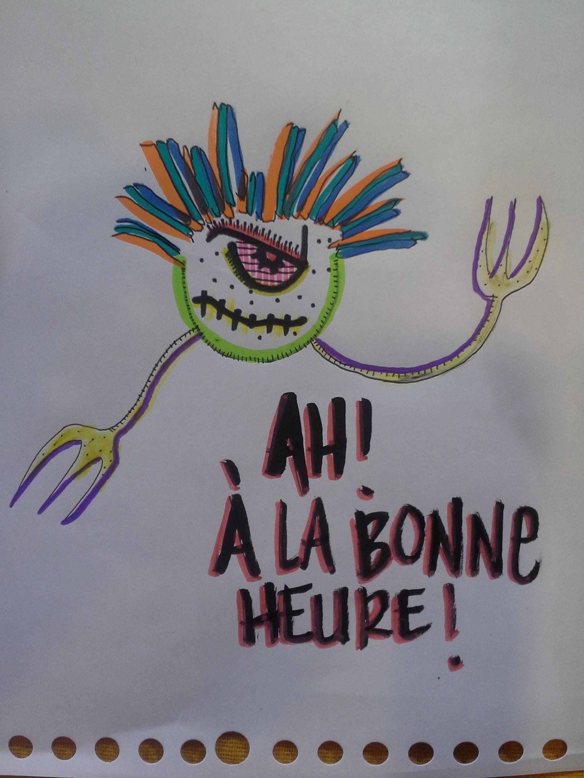 dessin de Rurik pour Laurent Fénoglio qui annonçait son arrivée